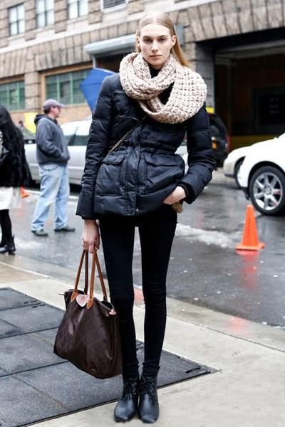 冬季街头明星教你如何搭配羽绒服